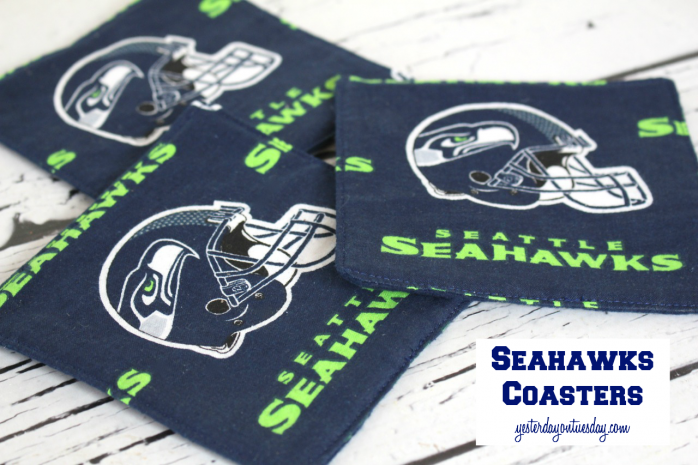 DIY Seahawks Coasters, customize for your favorite football team