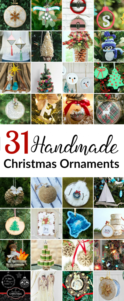 31 Christmas Ornaments to Make Now: Easy DIY ornaments ideas for the holidays, great for gift giving too!