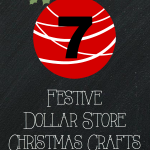 7 Festive Dollar Store Christmas Crafts including a mason jar reindeer, scents of Christmas gift, bottle cap ornaments and more!