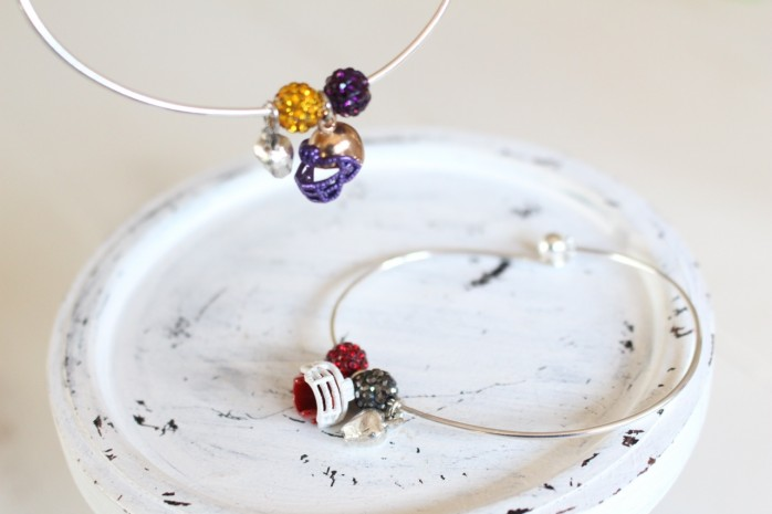 DIY Football Charm bracelets