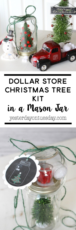 Dollar Store Christmas Tree Kit