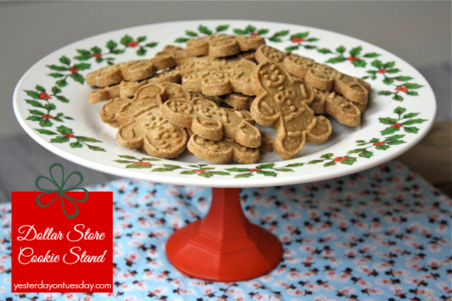Dollar Store Cookie Stand: A cheap and easy Christmas gift and holiday decor idea.