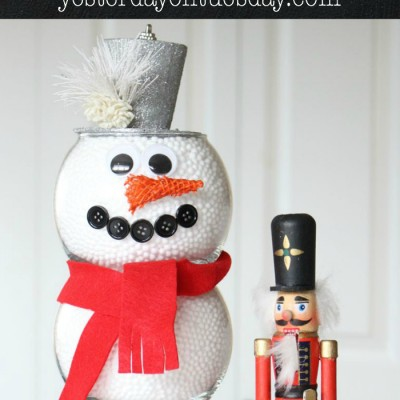 Dollar Store Fishbowl Snowman