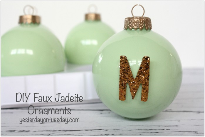 How to make DIY Faux Jadeite ornaments, and give your Christmas tree a lovely vintage look this holiday season. Also great for gift giving!