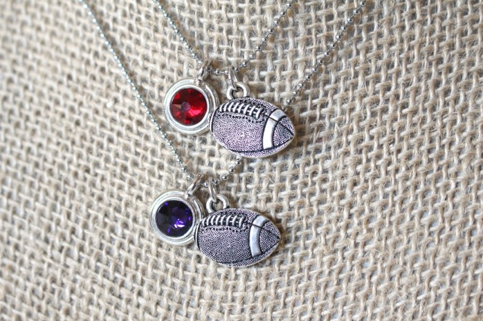 DIY Football Charm Necklace