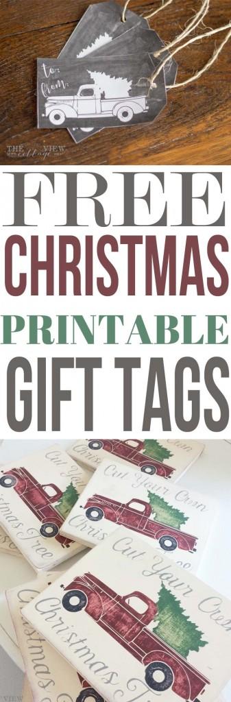 freechristmasprintable-gifttags-vintagetruckwithchristmastreechalkboard
