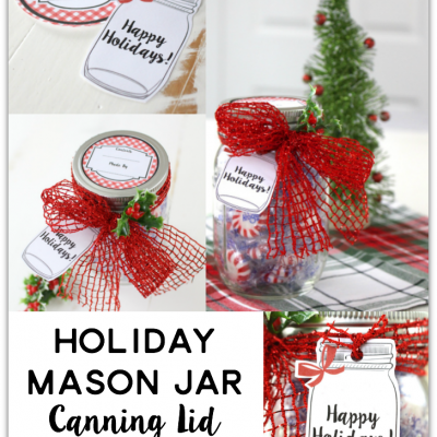 Holiday Mason Jar Canning Lid Labels and Tags