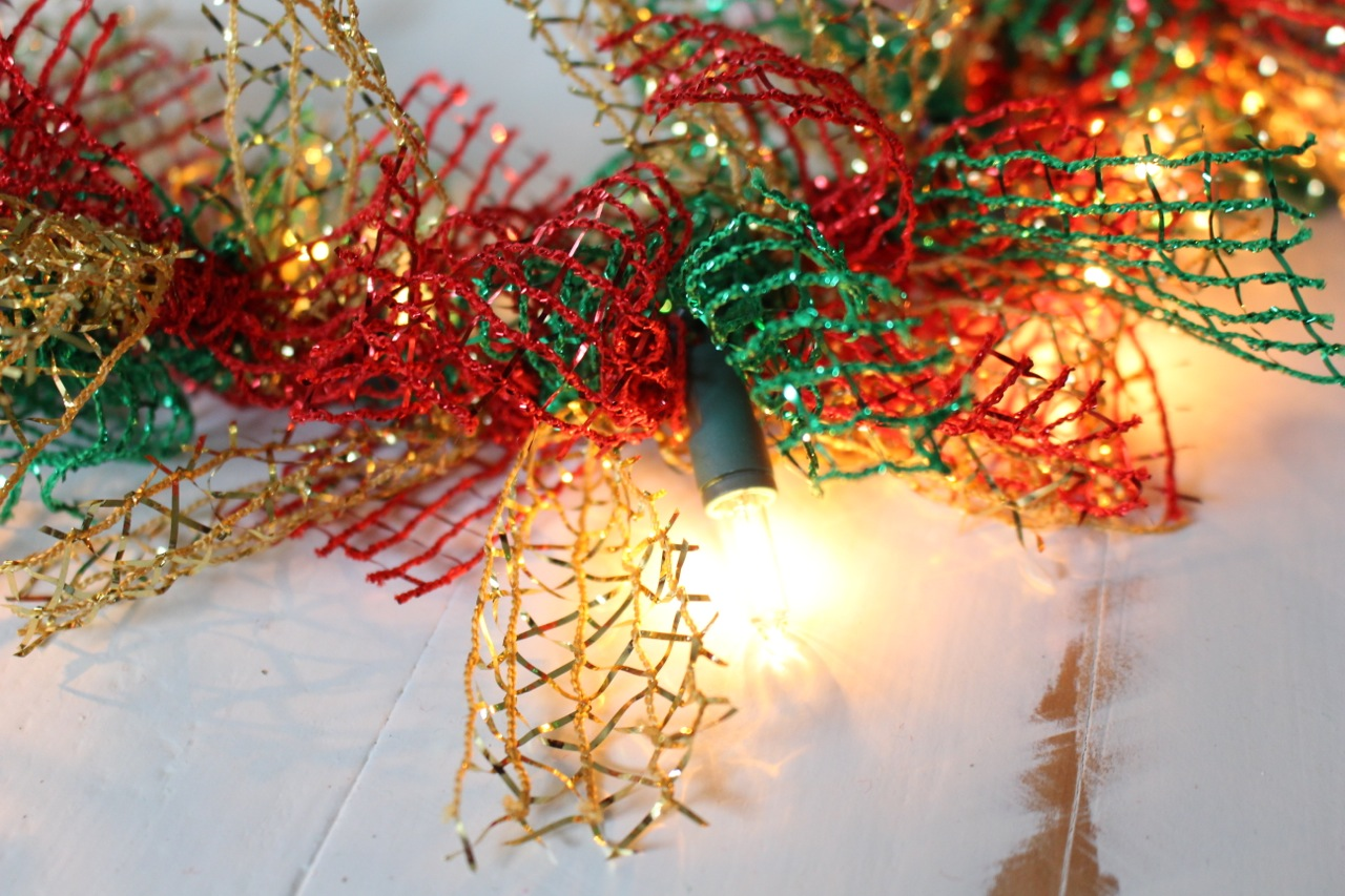Christmas Garland String Lights : Lighted Dollar Store Christmas Garland Yesterday On Tuesday