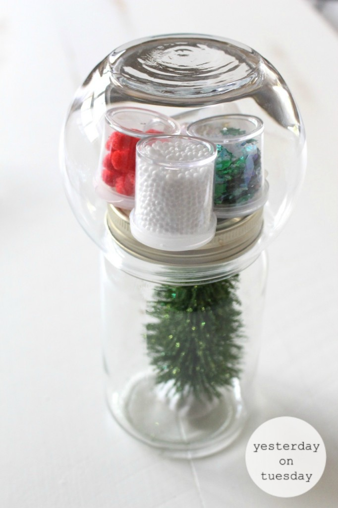 Dollar Store Christmas Tree Kit in a Mason Jar: How to grab some budget friendly crafting supplies at the dollar store to create a DIY Dollar Store Christmas Tree Kit, festive and fun gift idea.