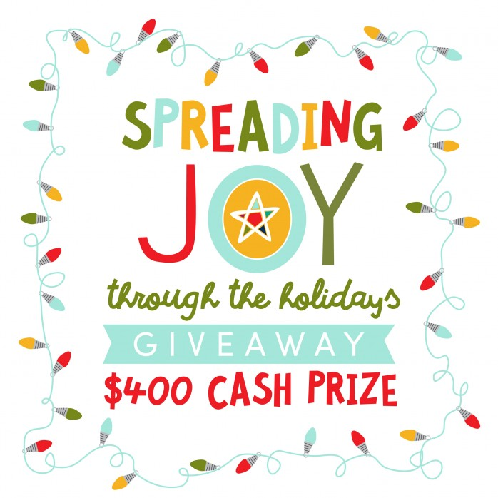 Enter to win a $400 cash prize in the Spreading Joy Giveaway