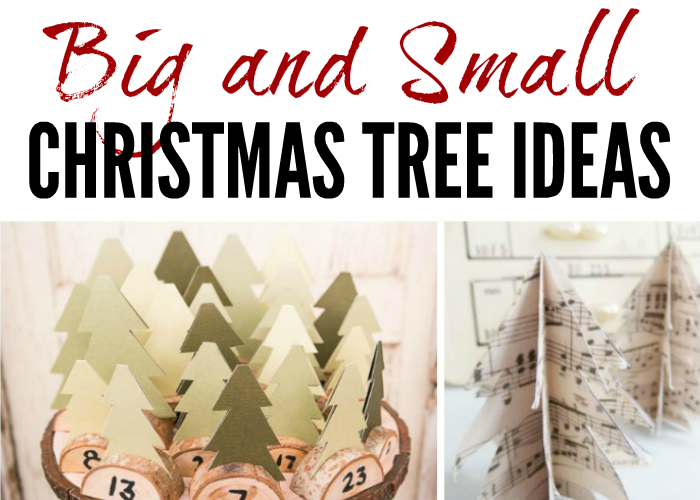 Big and Small Christmas Tree Ideas for your home this holiday season!
