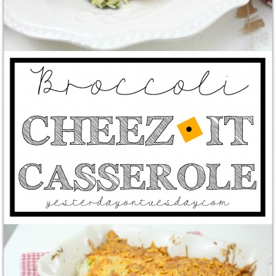 Broccoli Cheez It Casserole