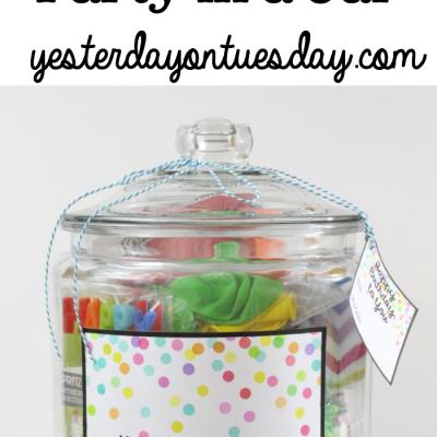 Happy Birthday Party in a Jar