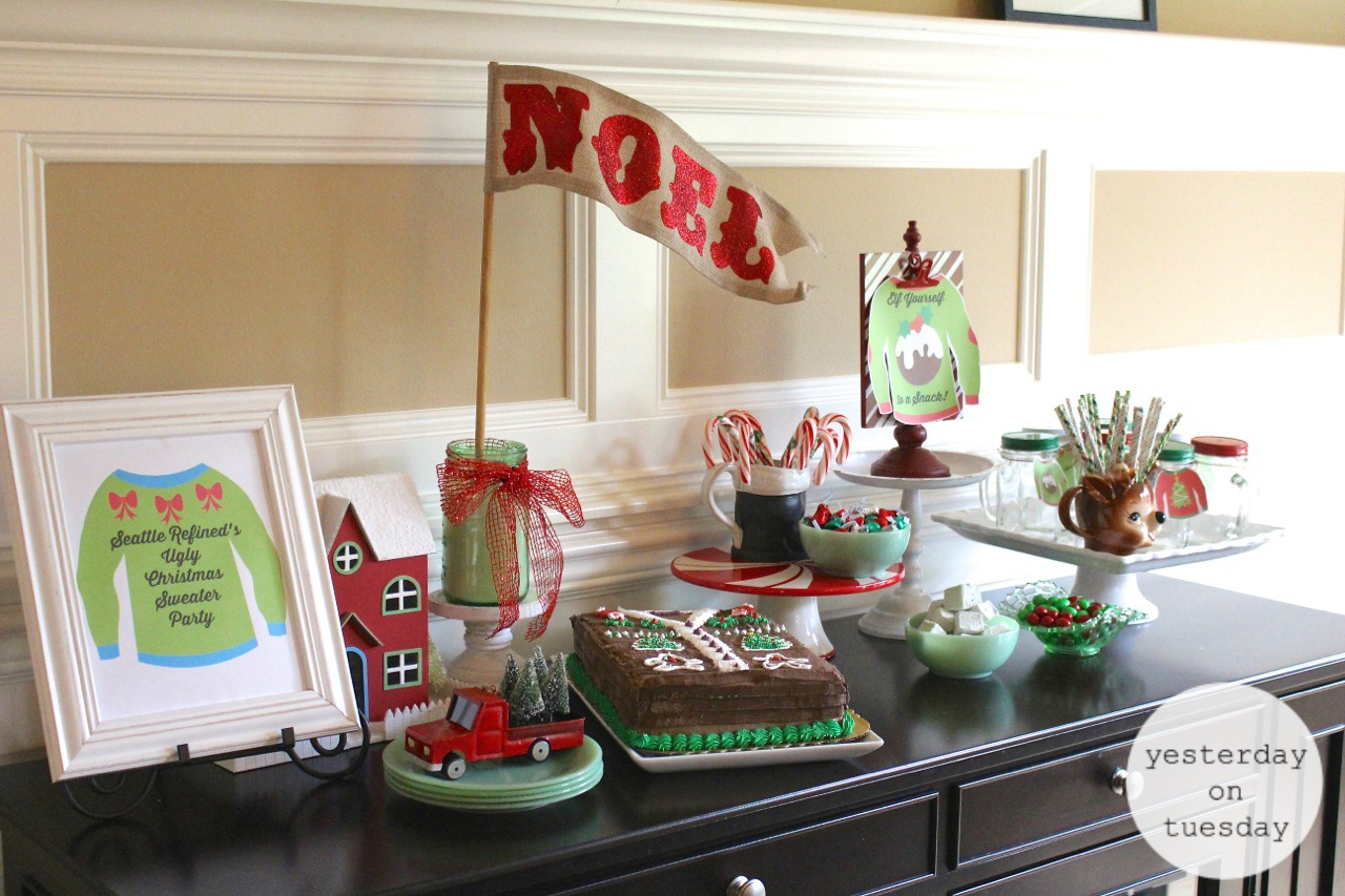 Ugly Christmas Sweater Party Fun and festive ideas for throwing a great holiday party. & Ugly Christmas Sweater Party Ideas | Yesterday On Tuesday