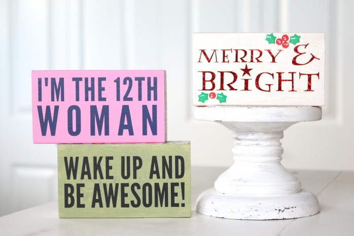DIY Mini Signs, great decor and gift ideas