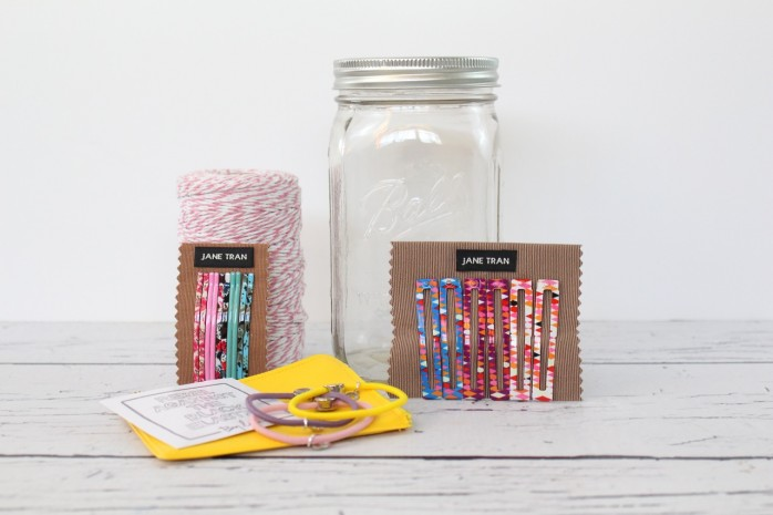 "No Bad Hair Days Kit in a Jar: How to make a ""no bad hair days"" kit in a mason jar, plus darling printables. Just add some clips, barrettes, rubber bands and a mason jar. Great gift idea for girls and women!"