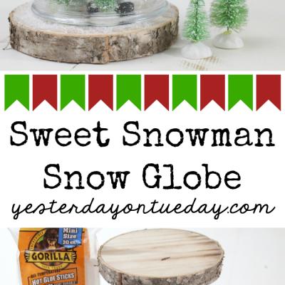 Sweet Snowman Snow Globe