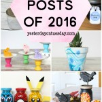 Top 10 Posts of 2016 from Yesterday on Tuesday: My favorite projects including a mason jar pineapple, Blueberry Pie Jam, Pokemon Mason Jars and more!