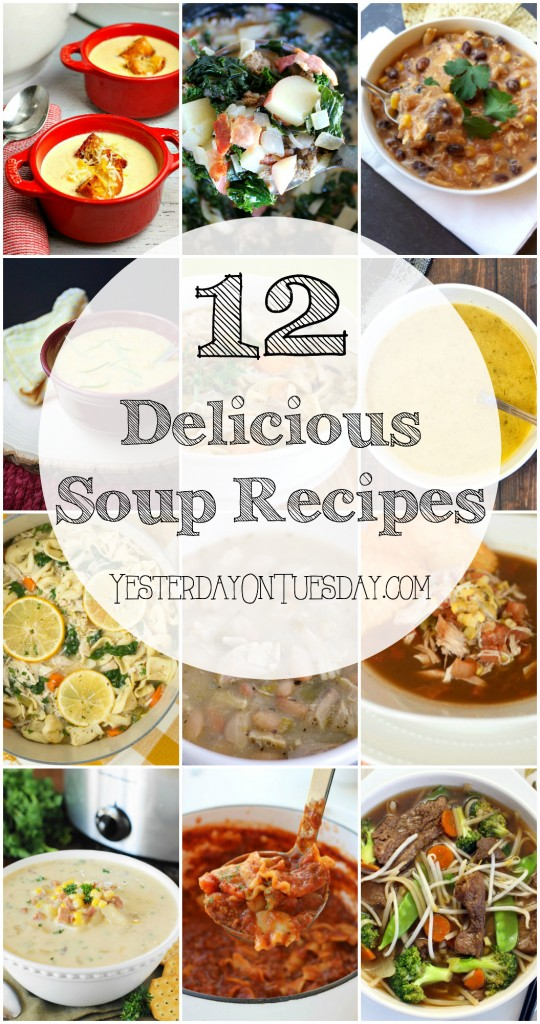 12 Delicious Soup Recipes, great family meal ideas for those chilly winter nights!