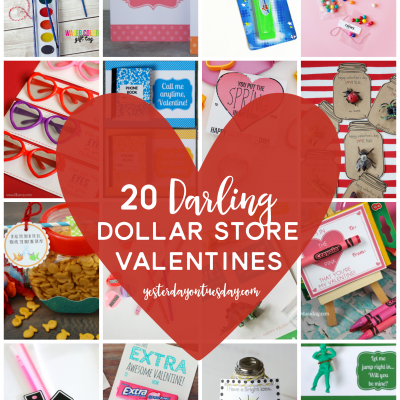 20 Darling Dollar Store Valentines Ideas, perfect for classroom Valentine's Day parties.
