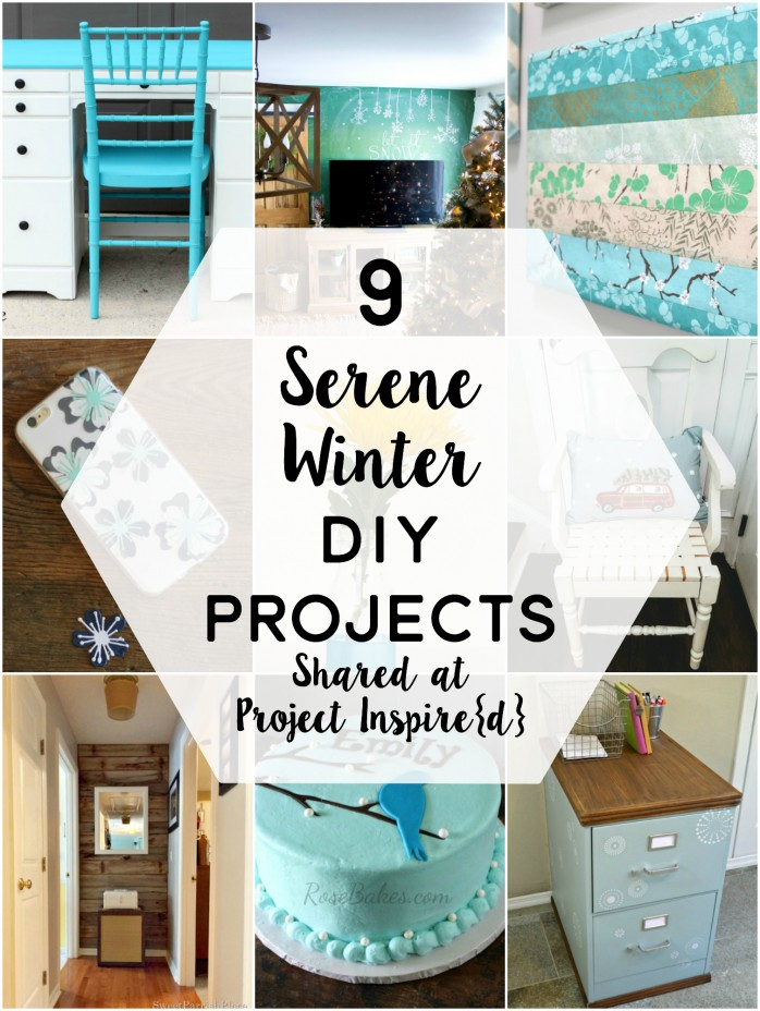 winter | crafts | chalkboard blue | white | cake | chair file cabinet