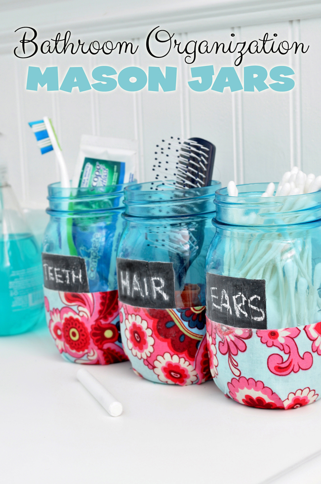 Bathroom Storage Jar Ideas : A dozen mason jar ideas for the bathroom yesterday on