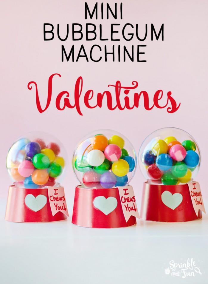 Mini Bubblegum Machine Valentine