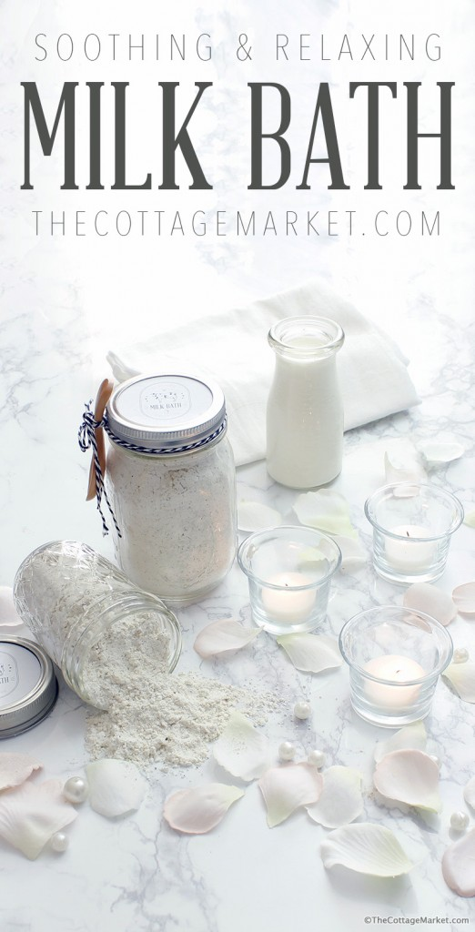 DIY Milk Bath in a Mason Jar