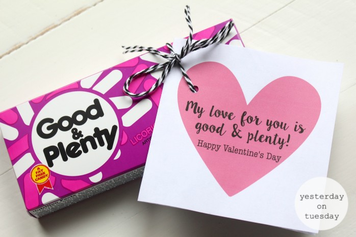 Dollar Store Candy Printable Valentines, simply grab some candy from the solar store and download these printable cards for a great Valentine's Day gift.