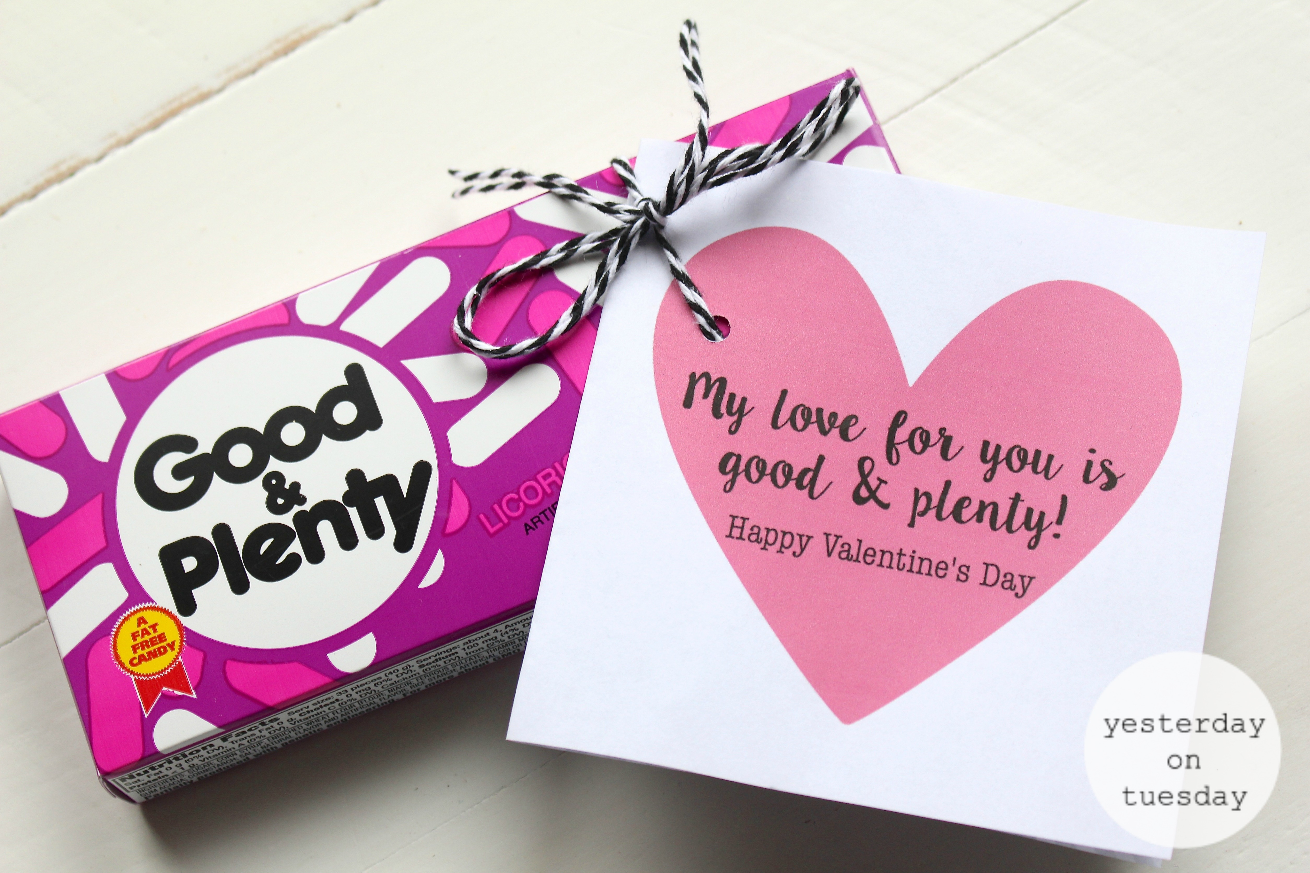 Dollar Store Candy Printable Valentines