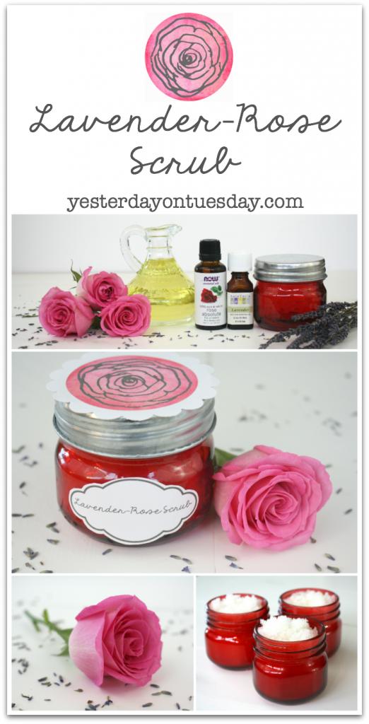 Lavender Rose Scrub in a mason jar