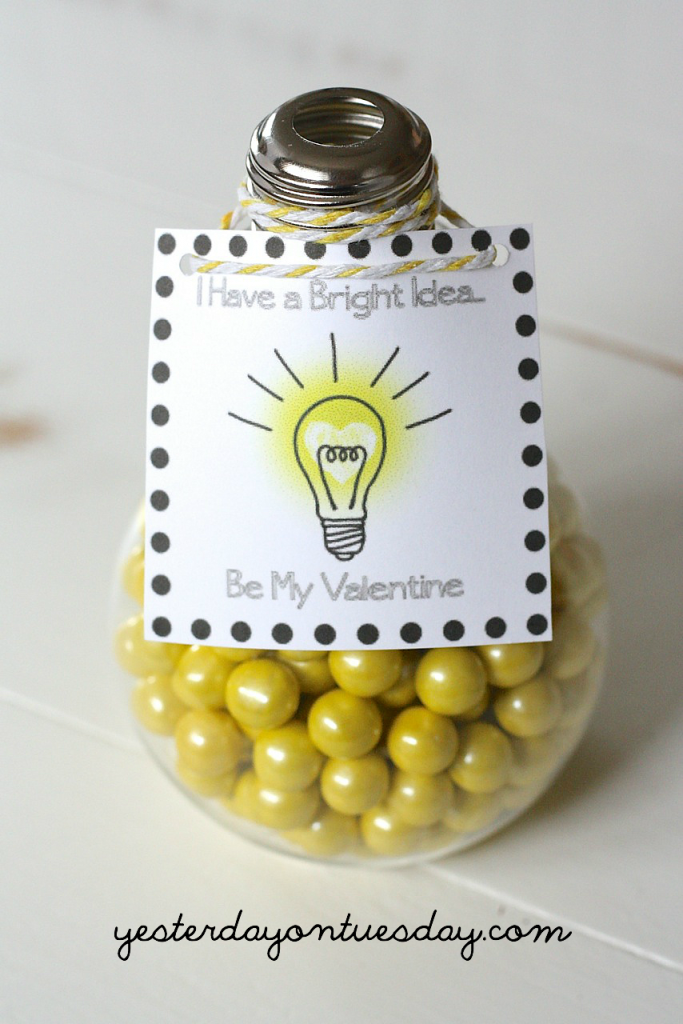 Light Bulb Valentines