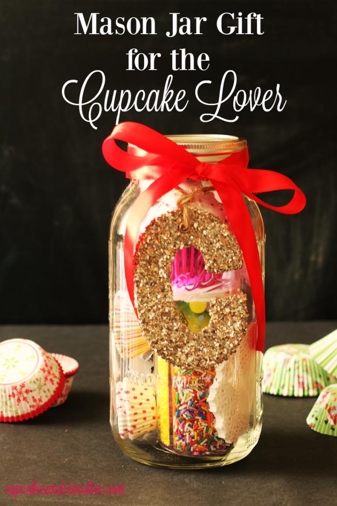 Mason Jar Gift for the Cupcake Lover