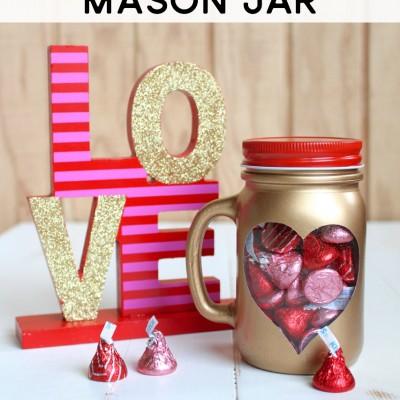 Peekaboo Heart Mason Jar