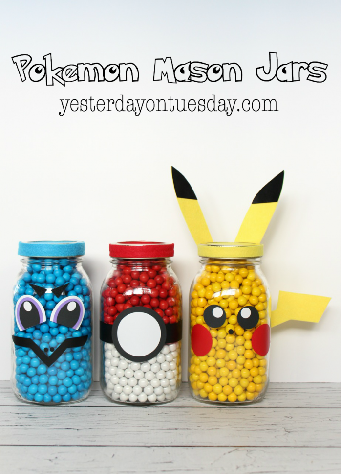 Pokemon Mason Jars