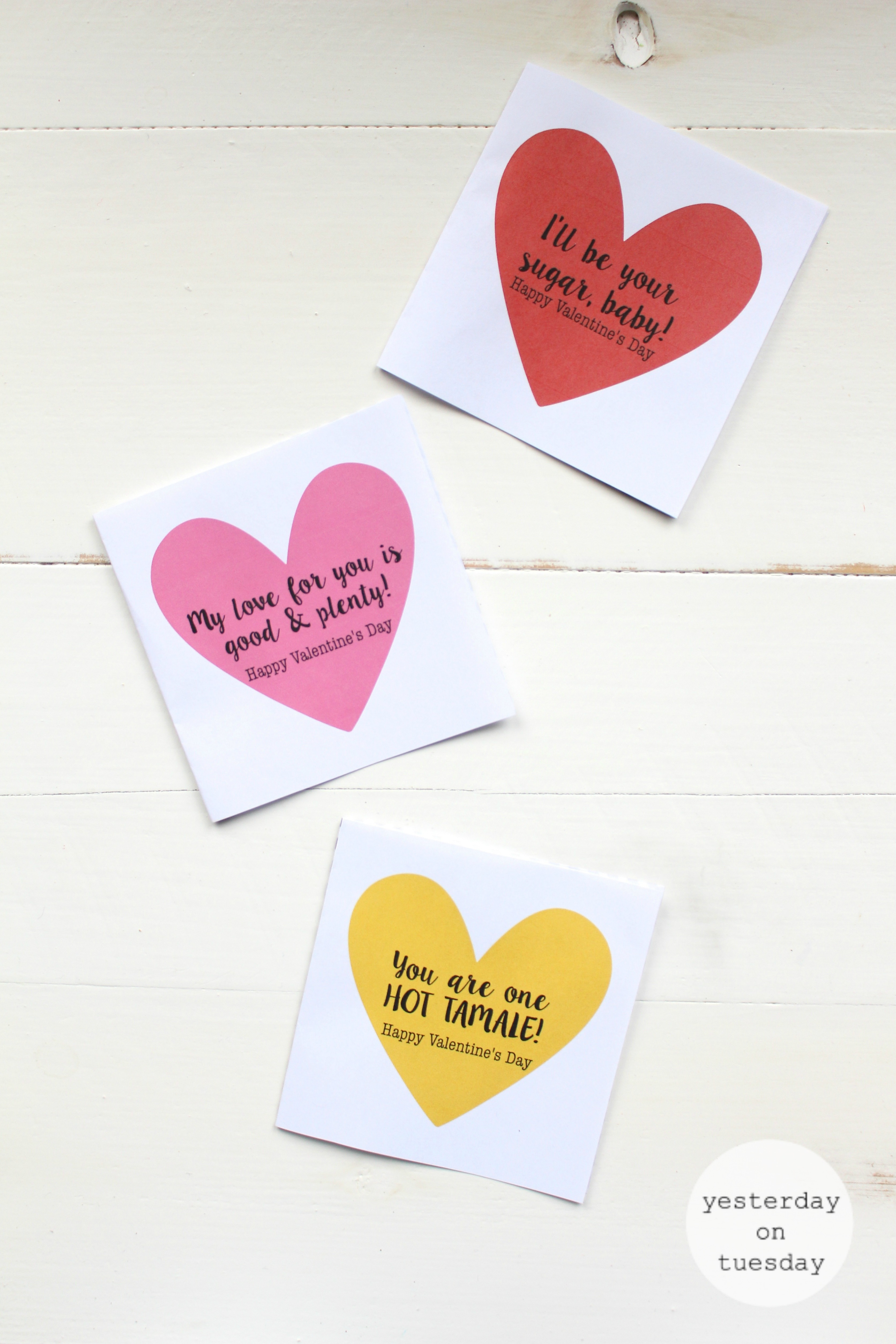 dollar store candy printable valentines yesterday on tuesday