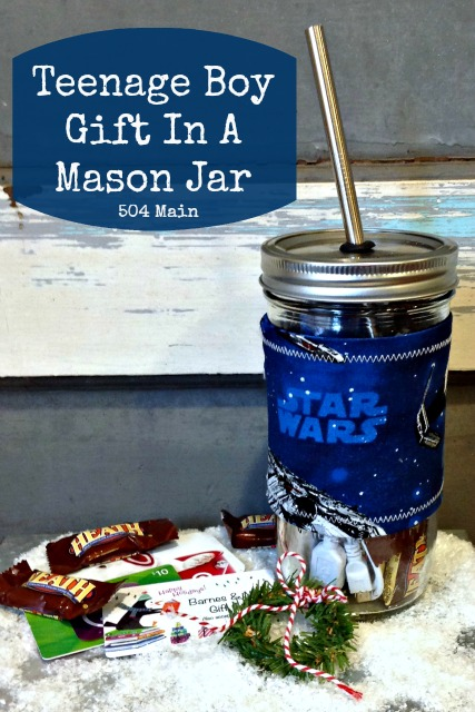 Teen Boy Gift in a Mason Jar