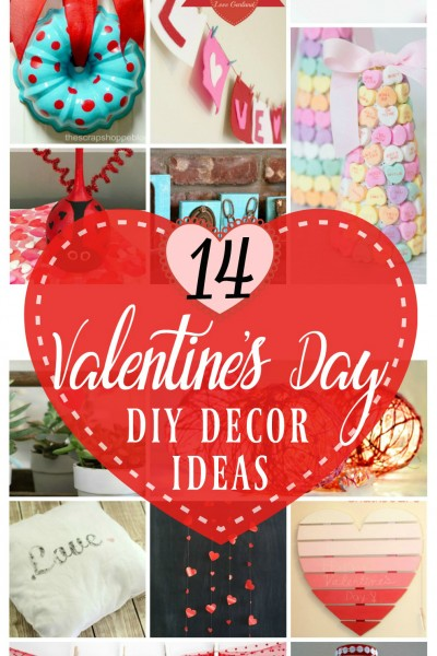 14 Valentines Day Decor ideas: creative ways add Valentine's Day decor to your home.