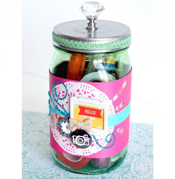 Scrapbooking Gift in a Jar