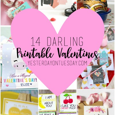 14 Darling Printable Valentines
