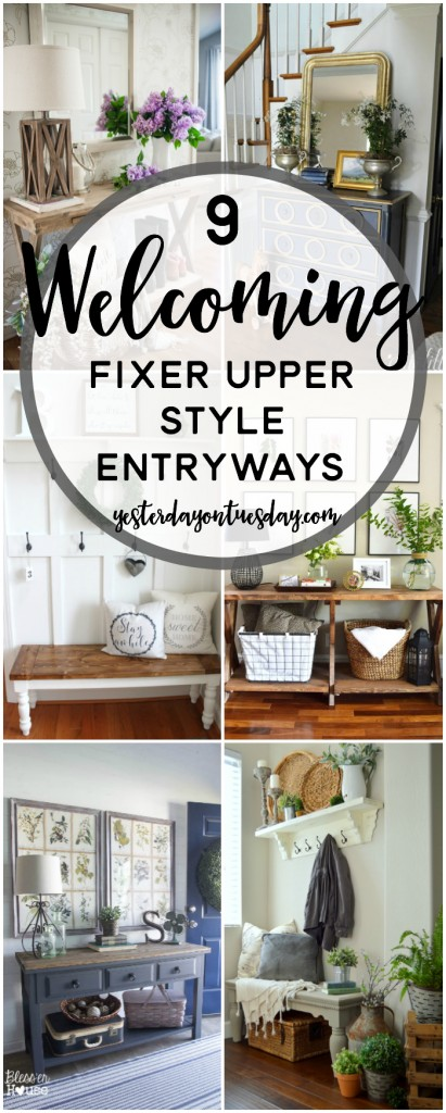 9 cozy fixer upper style entryways yesterday on tuesday for Fixer upper christmas special 2017