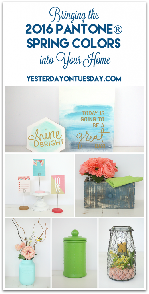 DIY and Craft Ideas for bringing spring colors into you home