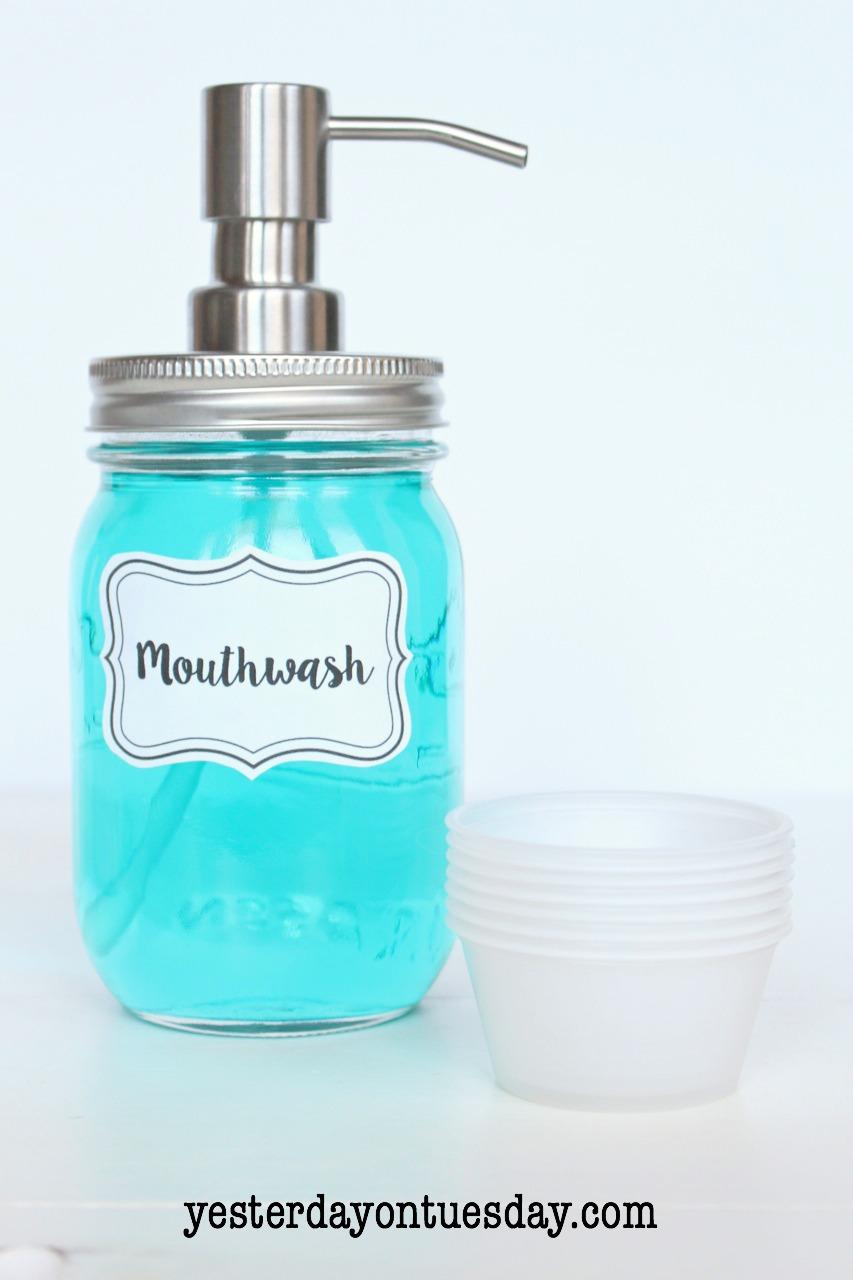 Diy Mason Jar Mouthwash Dispenser Yesterday On Tuesday