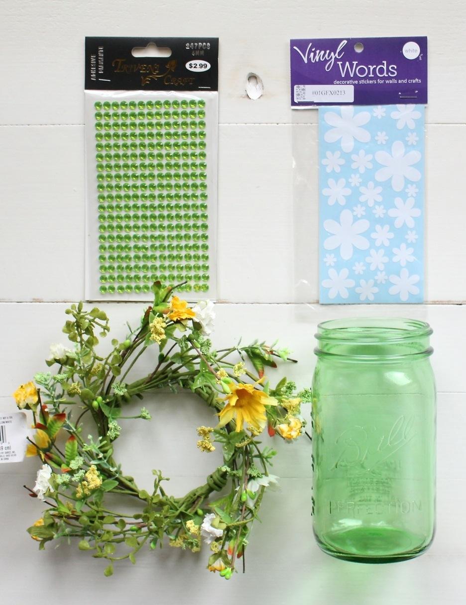 Flower power mason jar vase yesterday on tuesday flower power mason jar vase how to whip up a cute floral themed mason jar reviewsmspy