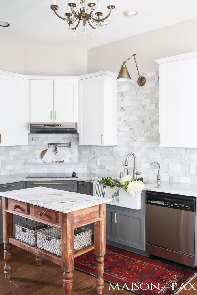 Gray and White Marble Kitchen Reveal from Maison de Pax