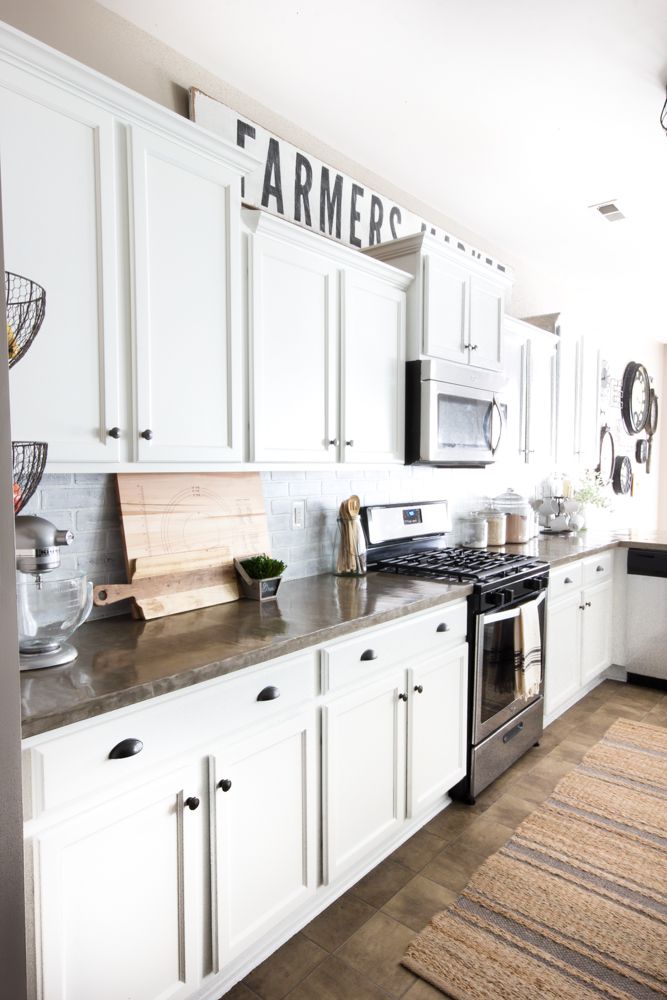 Modern Farmhouse Kitchen Makeover from Blesser House