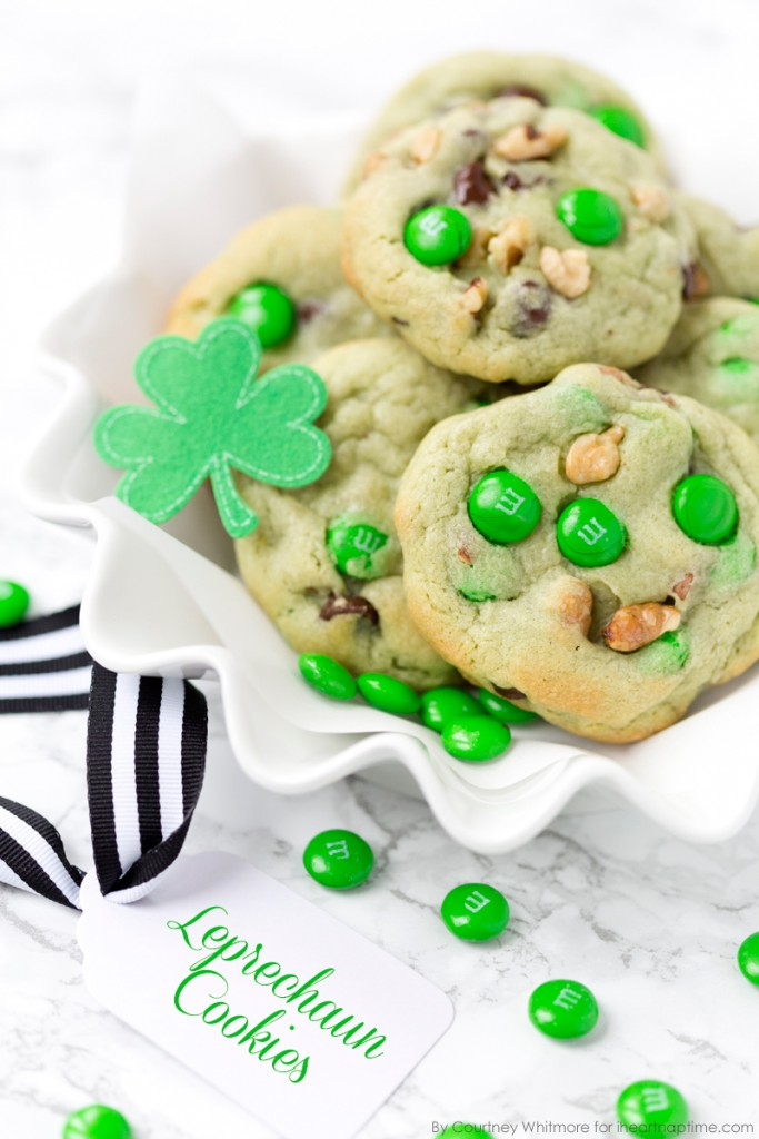 Pistachio-and-Chocolate-Leprechaun-Cookies