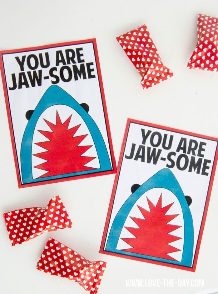 Shark Themed Valentines