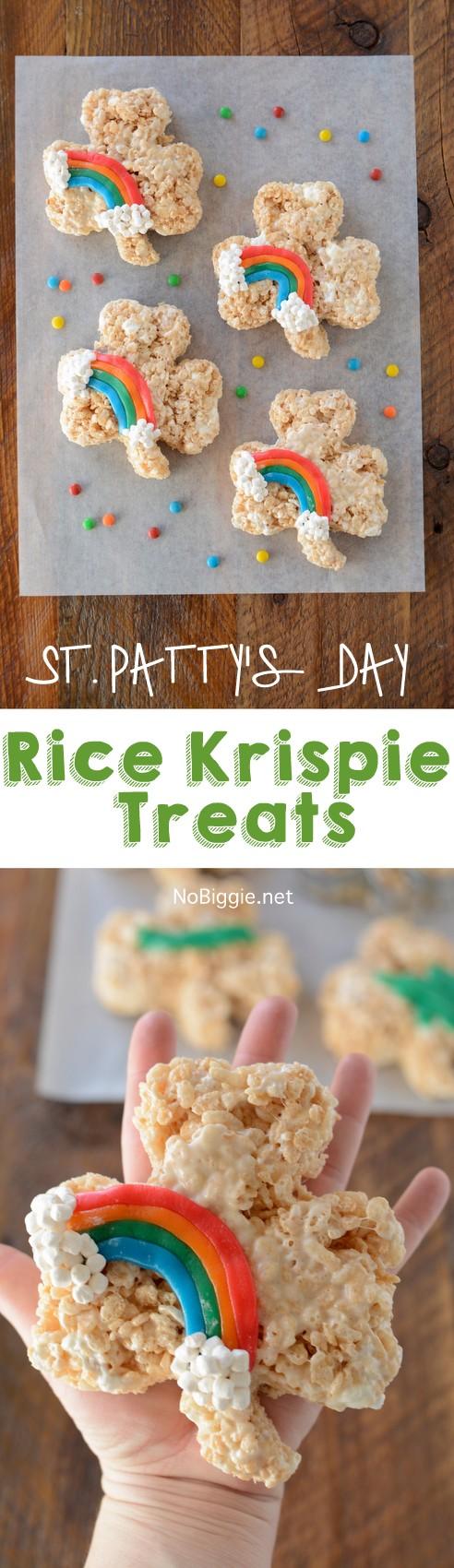 St. Patrick's Day Rice Krispie Treats from No Biggie