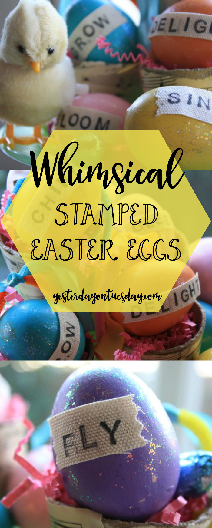 Whimsical Stamped Easter Eggs: How to create colorful and fun faux eggs for Easter decor.